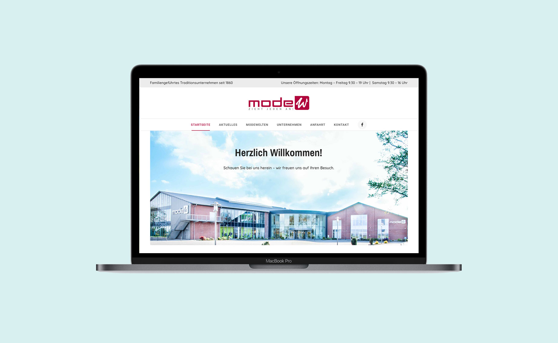 Online Design Modehaus Website 01