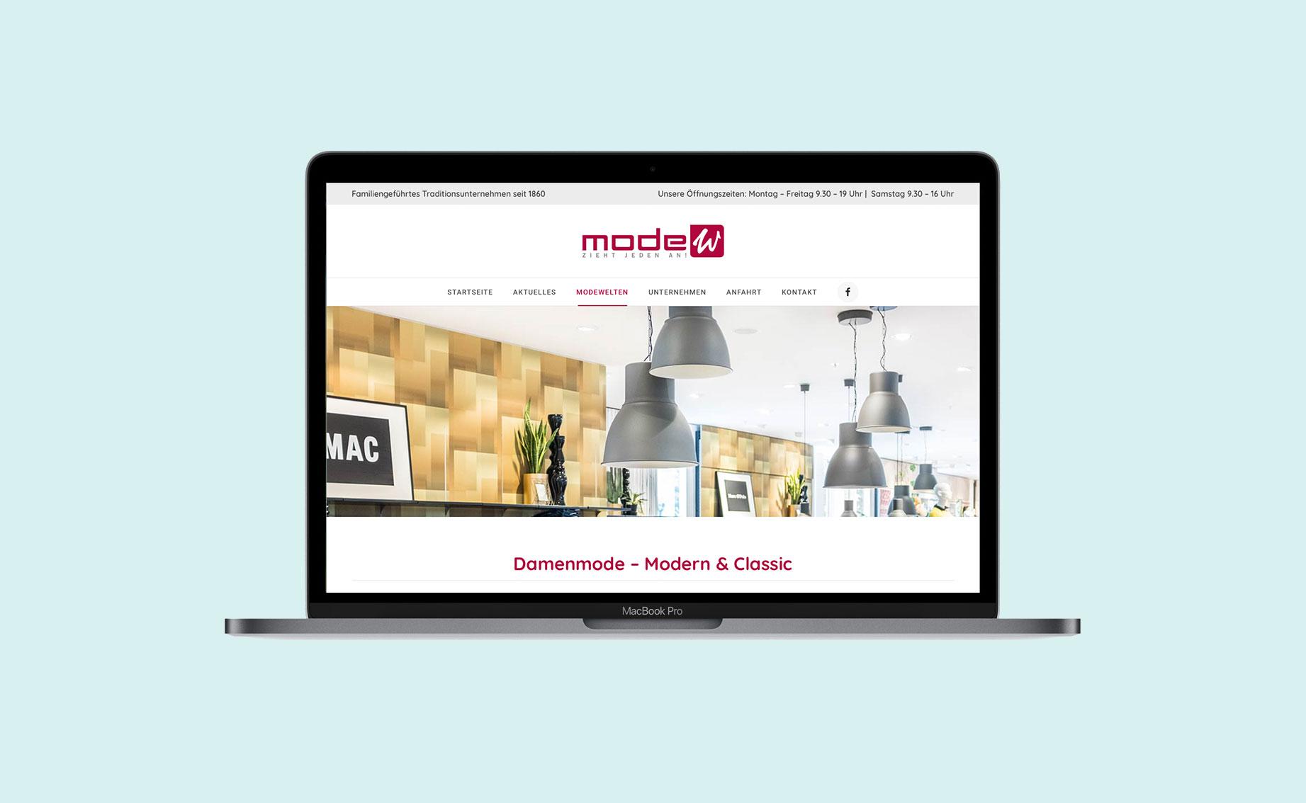 Online Design Modehaus Website 02