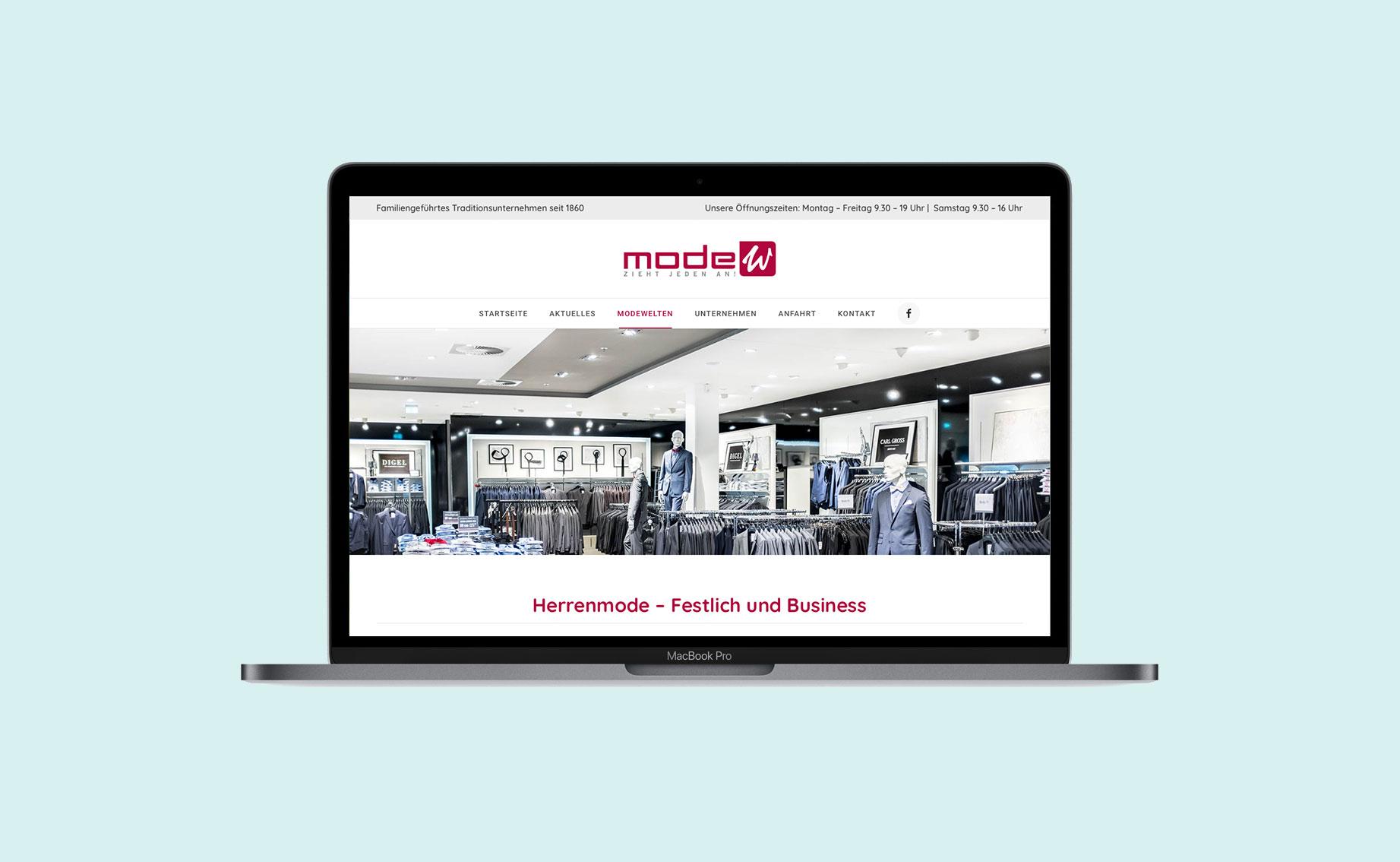 Online Design Modehaus Website 03